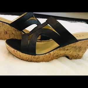 Brown Pesaro Sandal Wedges Size 10